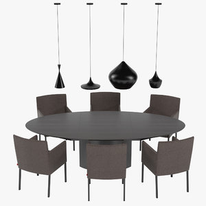 dining table rolf benz 3d model