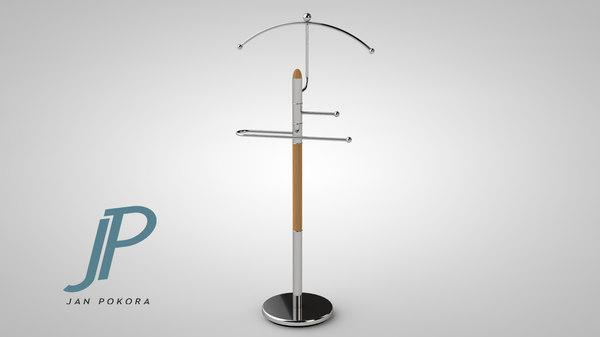 3d coat rack model