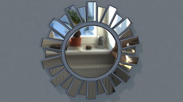 3d model sun mirror