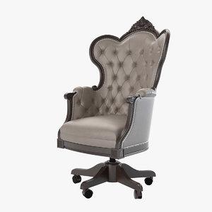 francesco mironi girevoli office chair 3d max