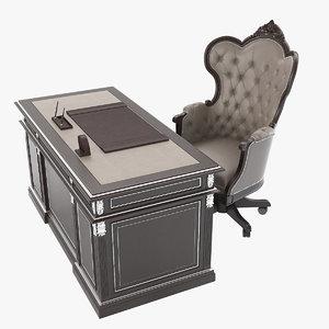 francesco mironi table chair obj