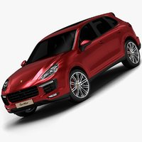 2015 porsche cayenne turbo 3d model