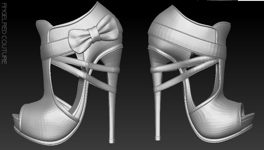 3d model angelred couture