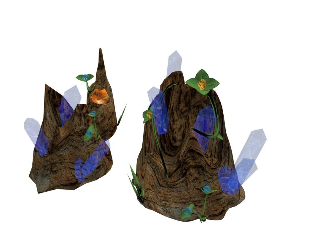 rock caves 3d model