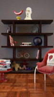 free home office shelf 3d model