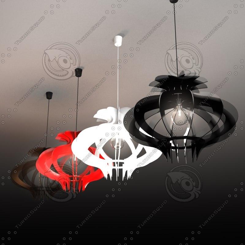3d pendant light coroa - model