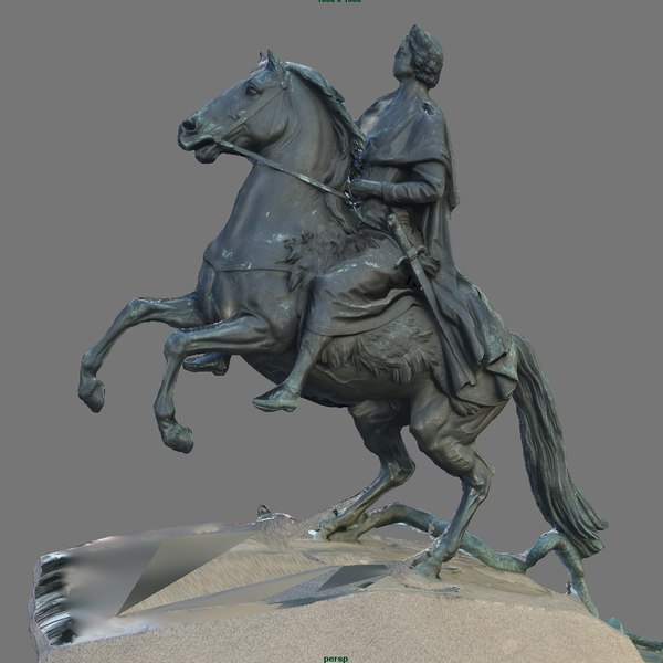 3d monument peter great