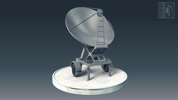 military radar vehicle obj