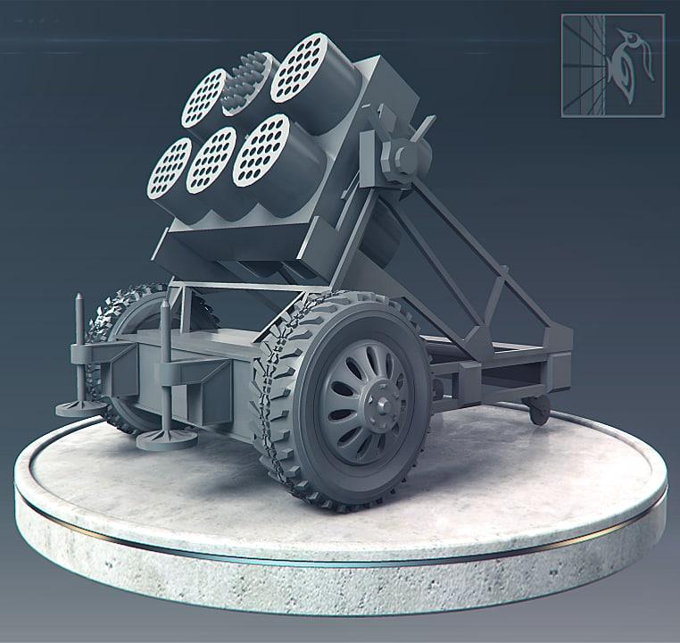 3d model of rocket launcher