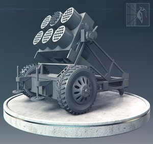 3d model of rocket launcher