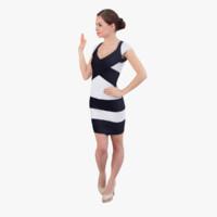 3d model ready-posed woman