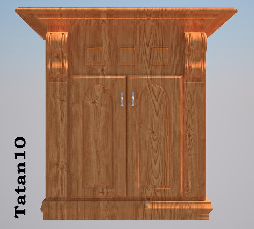 furniture classic 3d model
