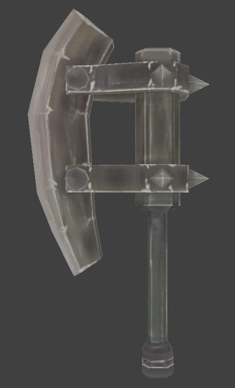 axe handed 3d model