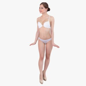 3d ready-posed woman