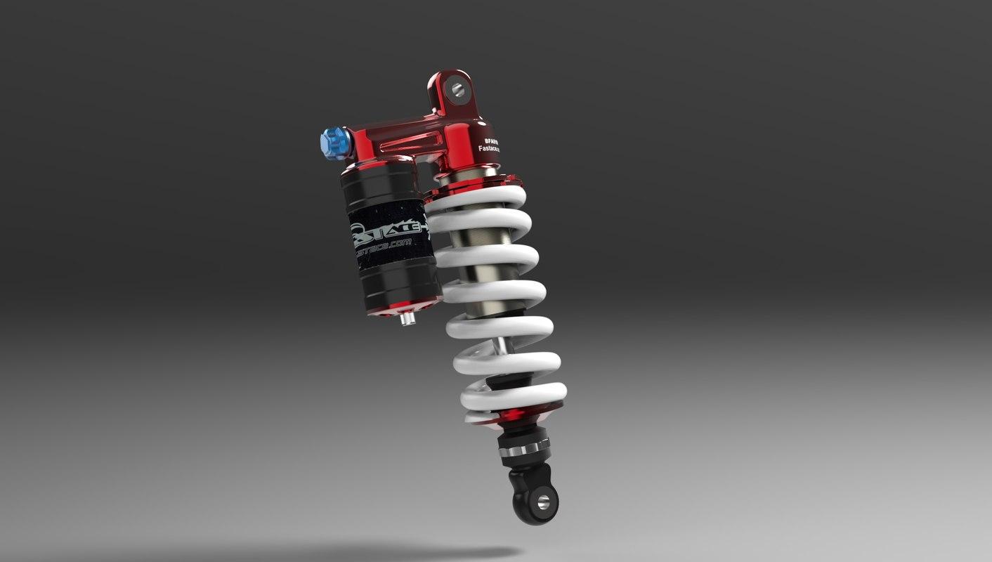 bfa51rc rear shock 3d 3ds