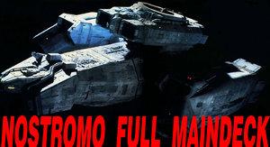 3d maindeck alien nostromo transporter