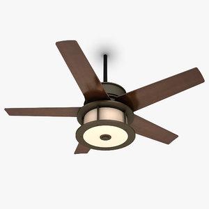 3d ceiling fan lamp 5 model