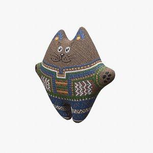 soft cat toy 3d model
