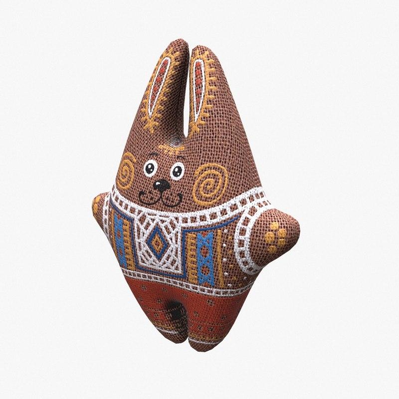 3d soft rabbit toy