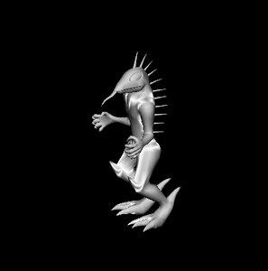 3d chupacabra cryptid creature