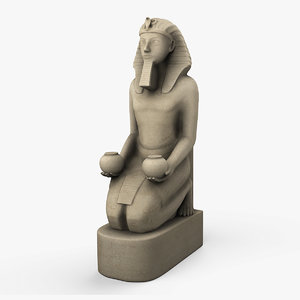 3d egyptian sculpture model