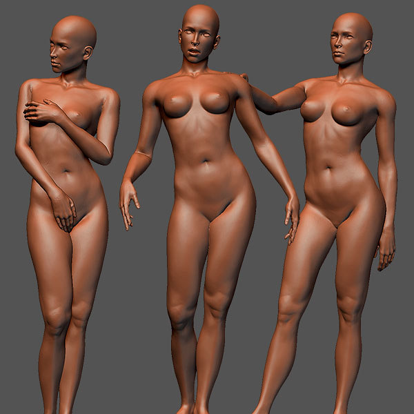 3d female sculptures