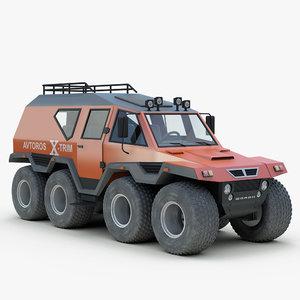 3d model russian avtoros shaman 8x8