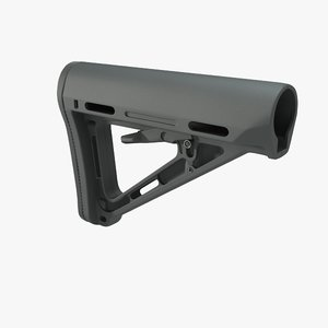 magpul stock moe collapsible 3d model