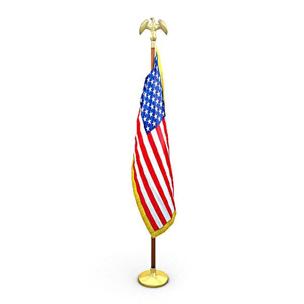 united states flag pack 3d x