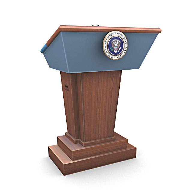 3ds max united states presidential podium