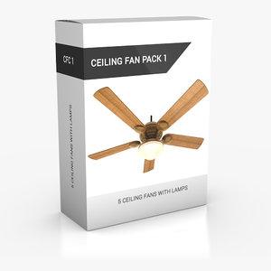 3d ceiling fan pack 1 model