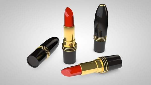 3d lipstick stick lip model