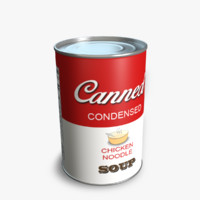 3d canned soup
