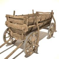 3d old cart v2 model