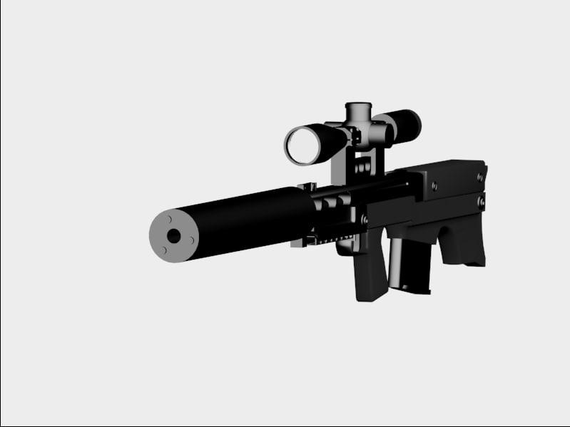 vks sniper rifle 3d model