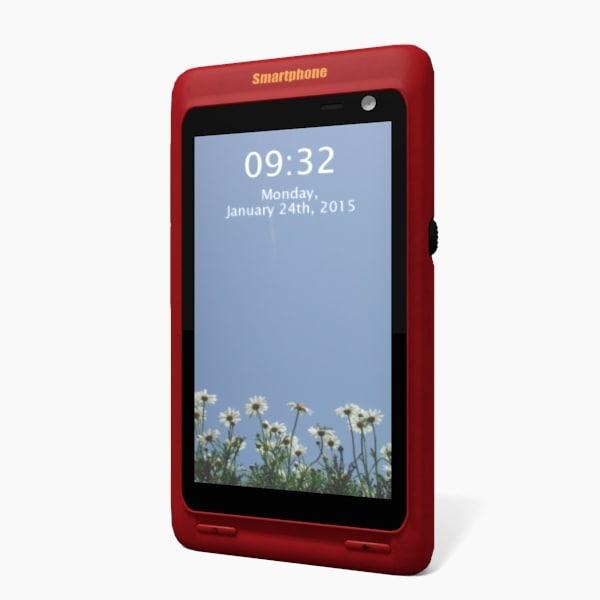 generic smartphone 3d obj