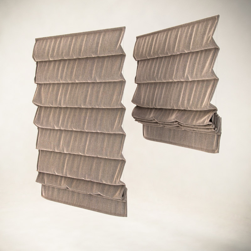 roman blinds 3d model