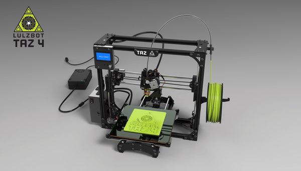 printing taz 4 3d model