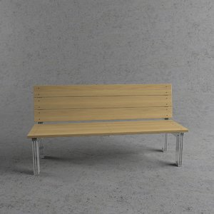 3d bench outdoor