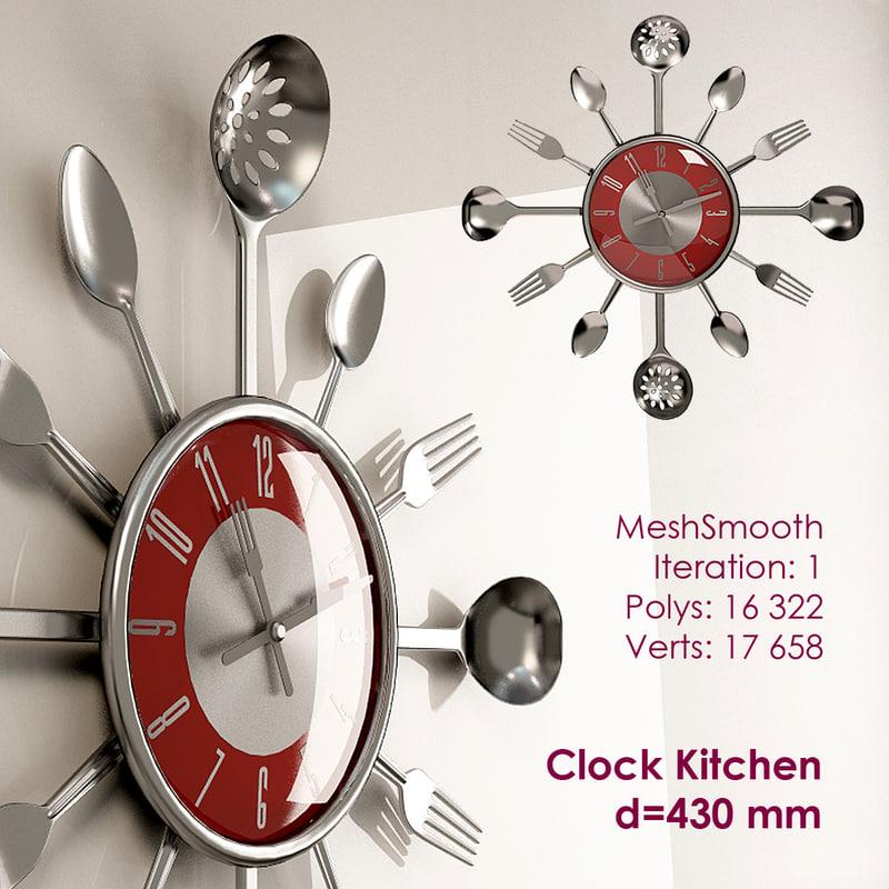 x kitchen wall clock
