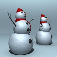 Lowpoly and Highpoly Snowman