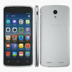 3d model smartphone zopo zp590 white