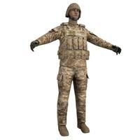 human military 3d model