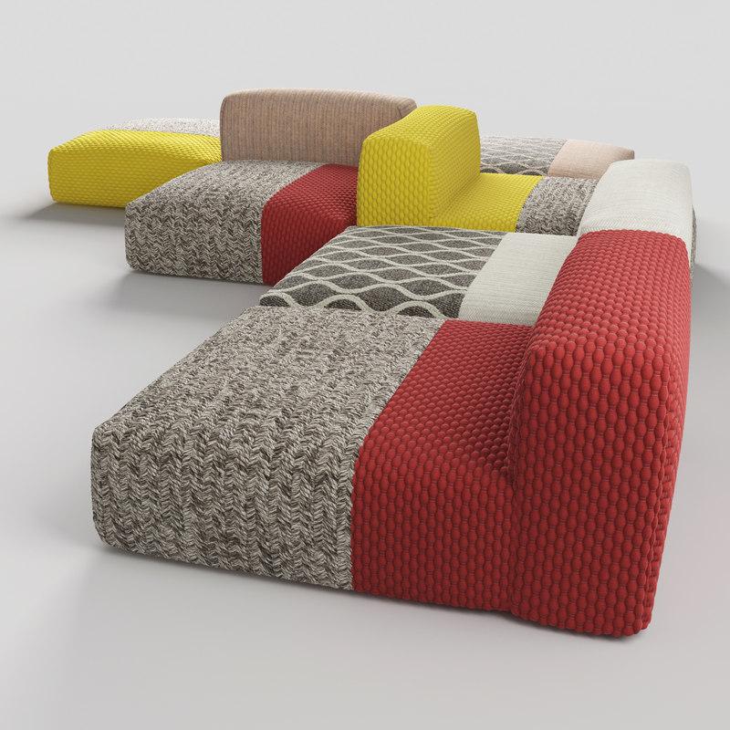sofa rugs 3d model