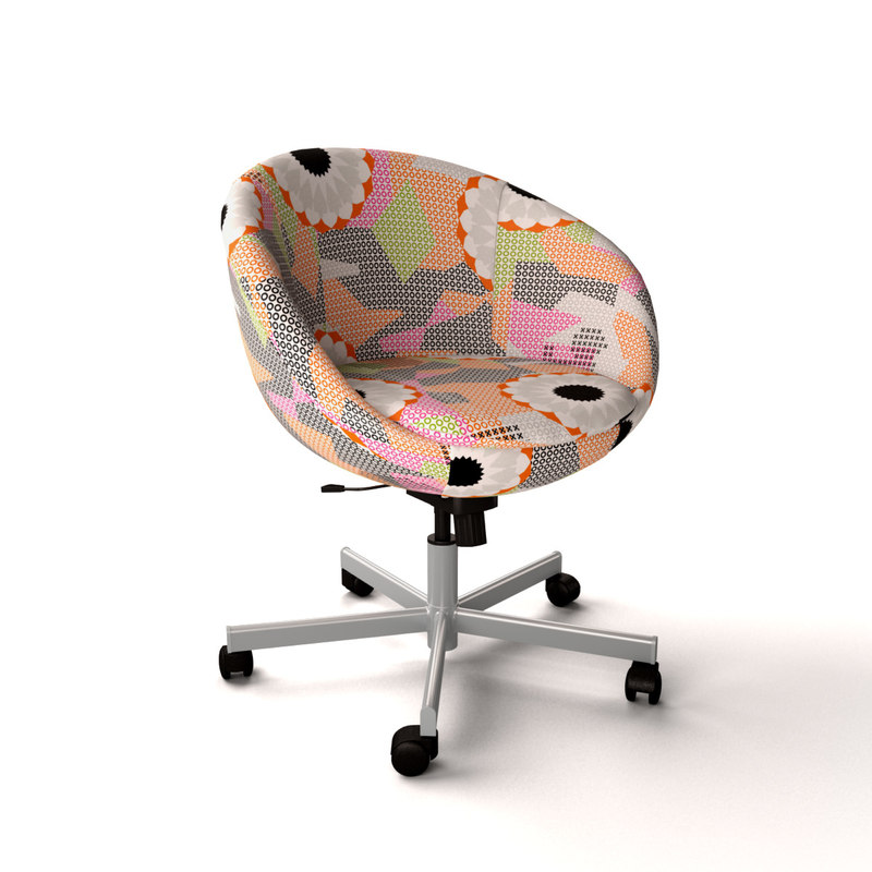 ikea skruvsta swivel chair 3d model