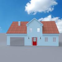 home cottage sides 3d obj