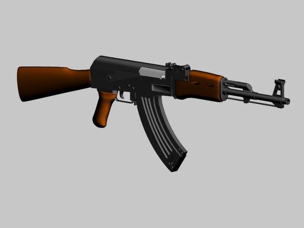3d assault rifle model