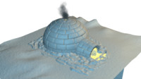 igloo modelled 3d model