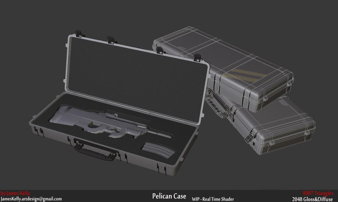 3d pelican case gun model
