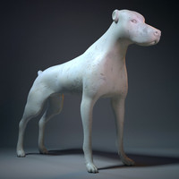 3d model dog warrior sculpture